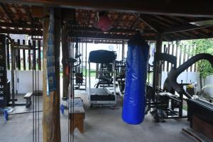 The fitness center and/or fitness facilities at Casa Rancho Alegre