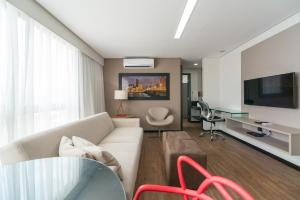 A seating area at RMD906 Maravilhoso flat na praia de Boa Viagem
