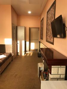 Телевизор и/или развлекательный центр в Гостиница Сапун гора
