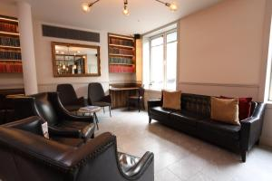 A seating area at Euston Square Hotel