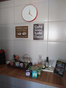 A kitchen or kitchenette at Nosso Aconchego