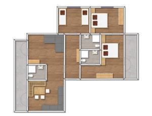 Plan piętra w obiekcie Ferienwohnungen Pitztaler Nachtigall