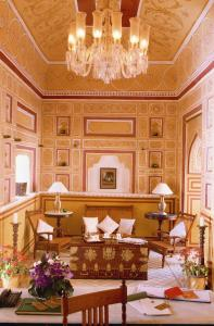 The lobby or reception area at Samode Palace