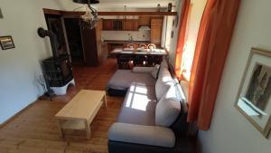 A seating area at Chalupa Lipno