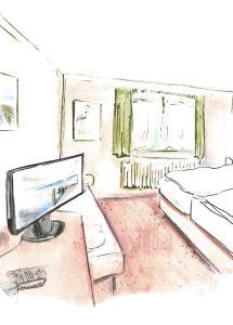 Grundriss der Unterkunft Hotel Moorbadstuben