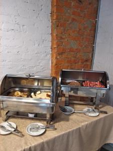A restaurant or other place to eat at Derzhavniy Hotel