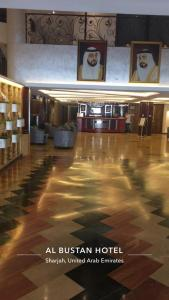 The lobby or reception area at Al Bustan Hotel