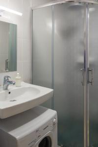 Ванная комната в Студия у Снежкома, Крокус Экспо и метро Мякинино