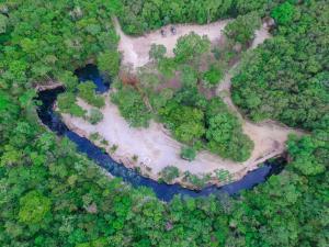 Cenote Casa Tortuga Tulum a vista de pájaro