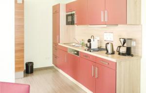 Küche/Küchenzeile in der Unterkunft One-Bedroom Apartment in Bad Liebenstein
