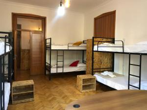 A bunk bed or bunk beds in a room at Vac Hostel