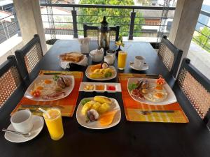 Breakfast options available to guests at D Villas