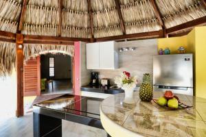 A cozinha ou cozinha compacta de Don Genaro Curacao Appartements Palapino