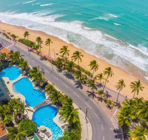 Uma vista aérea de Ritz Lagoa da Anta Hotel & SPA