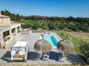 Vista de la piscina de Casa rural cerca de Porto Cristo ( El Paraíso ) o alrededores