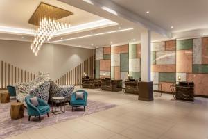 The lobby or reception area at Hilton Aberdeen TECA
