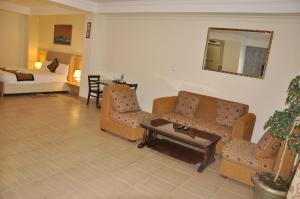 A seating area at Mekelle Hotel