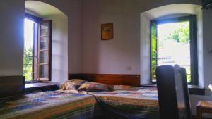 Ένα ή περισσότερα κρεβάτια σε δωμάτιο στο Ξενώνας Δήμου
