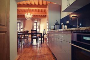 Reštaurácia alebo iné gastronomické zariadenie v ubytovaní Bed&Bike Prachatice