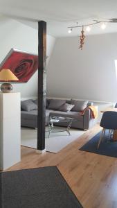 Ein Bett oder Betten in einem Zimmer der Unterkunft Appartement Seeblick