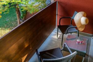 Balkón nebo terasa v ubytování La Pergola Hotel