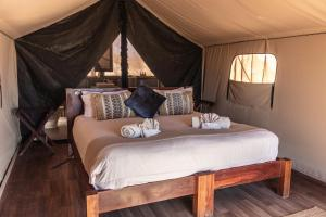 A bed or beds in a room at Sal Salis Ningaloo Reef