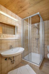 Ein Badezimmer in der Unterkunft Walchauhof