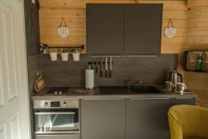 A kitchen or kitchenette at Dunroamin Lodges