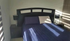A bed or beds in a room at Villa de pozos