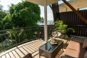 A balcony or terrace at Seaflower Bungalows