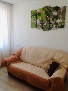 A seating area at Апартаменты «Татьяна»