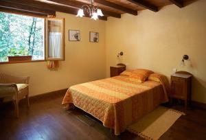 Cama o camas de una habitación en Casa Rural Goikola