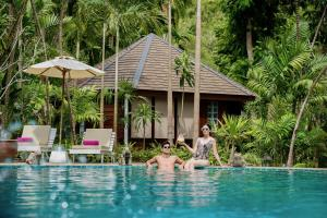 The swimming pool at or near River Kwai Resotel