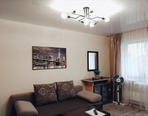 A seating area at Apartment in Lesosibirsk