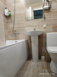 A bathroom at Apartment on Lukashevicha