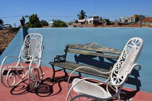 A balcony or terrace at Hostal Nelba & Carlos