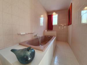 A bathroom at Comfortable Holiday Home with Private Pool in Pierrerue