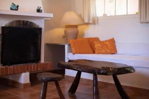 A seating area at Mi Casita
