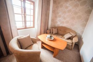 Posezení v ubytování Penzion Pod Zamkem