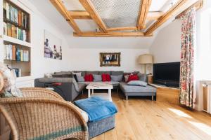 Ein Sitzbereich in der Unterkunft Casa Piedro
