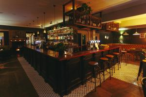 The lounge or bar area at Bridge Street House