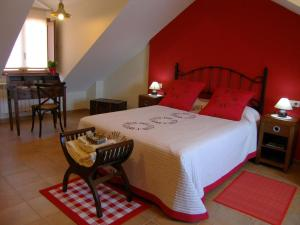 A bed or beds in a room at Casa da Balea