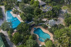 Ein Blick auf den Pool von der Unterkunft Ban's Diving Resort oder aus der Nähe