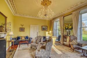 A seating area at Castle Grove Country House Hotel