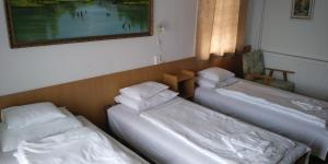 A bed or beds in a room at Korona Panzio