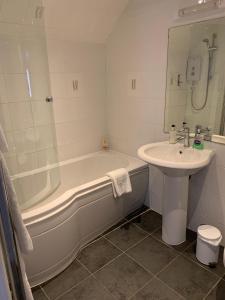 A bathroom at The Royal Oak. Public House