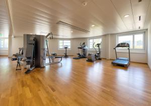Das Fitnesscenter und/oder die Fitnesseinrichtungen in der Unterkunft Aquatis Hotel 3* Superior