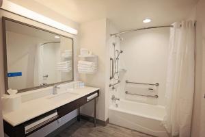 A bathroom at Hampton Inn & Suites Asheville Biltmore Area