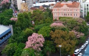 A bird's-eye view of Linda vista para o Guaíba