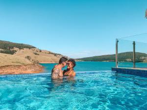 A piscina localizada em Rancho Coração Aberto ou nos arredores